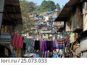 Индия. Трущебы в Мумбаи. Стоковое фото, фотограф Алтанова Елена / Фотобанк Лори