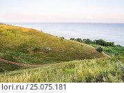 Купить «Берег Таганрогского залива в Ростовской области», фото № 25075181, снято 16 июля 2015 г. (c) Алёшина Оксана / Фотобанк Лори