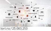 Купить «Social Networks and interaction concept . Mixed media», иллюстрация № 25083253 (c) Sergey Nivens / Фотобанк Лори