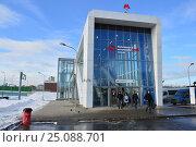 Наземный вестибюль станции «Измайлово» Московского центрального кольца (МЦК) (2017 год). Редакционное фото, фотограф lana1501 / Фотобанк Лори