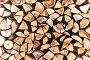 Поленница с дровами треугольной формы, фото № 25090497, снято 5 мая 2016 г. (c) Зезелина Марина / Фотобанк Лори