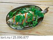 Купить «Steamed Whole Fish», фото № 25090877, снято 8 февраля 2017 г. (c) Александр Fanfo / Фотобанк Лори