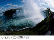 Купить «Niagara falls Ontario Canada. Fish-eye image», фото № 25098485, снято 3 апреля 2020 г. (c) Nature Picture Library / Фотобанк Лори