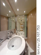 Купить «The en suite bathroom to the master bedroom of the luxurious 35-metre motoryacht Gaia, from boatbuilder Cantieri Maiora, Italy.», фото № 25107753, снято 16 июля 2018 г. (c) Nature Picture Library / Фотобанк Лори