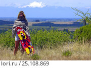 Купить «Champion kitesurfer, Fabienne D'Ortoli, standing in the chilean countryside with the spectacular backdrop of the Andes, Chile, 2005.», фото № 25108869, снято 19 июля 2018 г. (c) Nature Picture Library / Фотобанк Лори