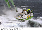SEB battles towards Hobart on leg 3 of the Volvo Ocean Race, 2001-2002. Стоковое фото, фотограф Rick Tomlinson / Nature Picture Library / Фотобанк Лори