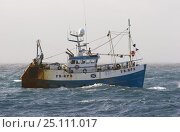 "Купить «Prawn fishing vessel, ""Ocean Reaper"" trawling on the North Sea, May 2004.», фото № 25111017, снято 17 июля 2018 г. (c) Nature Picture Library / Фотобанк Лори"