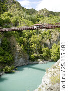Купить «Bungy jumping from the Kawarau Bridge, a 43 metre bungy jump above the Kawarau River, Queenstown, New Zealand. ^^^Opererated by A J Hackett, this was the...», фото № 25115481, снято 16 декабря 2017 г. (c) Nature Picture Library / Фотобанк Лори