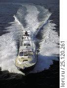 Купить «Little Harbor whisper jet powerboat with tuna fishing tower.», фото № 25120261, снято 20 сентября 2018 г. (c) Nature Picture Library / Фотобанк Лори