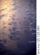 Купить «Aerial view of tropical sea and cumulus clouds», фото № 25120981, снято 17 августа 2018 г. (c) Nature Picture Library / Фотобанк Лори