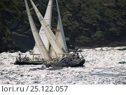 "Купить «Yacht ""Sarah-Jane"" beating upwind near the rocks during Antigua Race Week, 1993.», фото № 25122057, снято 22 июля 2018 г. (c) Nature Picture Library / Фотобанк Лори"