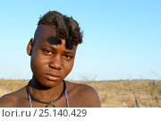 Купить «Portrait of Himba girl with the typical double plait hairstyle of the pre-adolescent. Kaokoland, Namibia. October 2015», фото № 25140429, снято 26 мая 2019 г. (c) Nature Picture Library / Фотобанк Лори