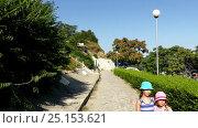 Купить «Two little beautiful girls in Nesebar, Bulgaria», видеоролик № 25153621, снято 13 октября 2016 г. (c) BestPhotoStudio / Фотобанк Лори