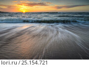 Купить «Crashing waves of the Baltic at sunset, Hiiumaa island, Kopu Nature Reserve. Estonia. October 2013.», фото № 25154721, снято 17 августа 2018 г. (c) Nature Picture Library / Фотобанк Лори