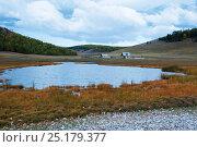 Купить «Olkhon island landscape, Lake Baikal, Siberia, Russia, September 2013.», фото № 25179377, снято 20 января 2018 г. (c) Nature Picture Library / Фотобанк Лори