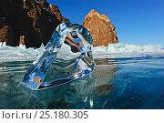 Купить «Transparent ice formation on Lake Baikal, Siberia, Russia, March 2012.», фото № 25180305, снято 24 апреля 2019 г. (c) Nature Picture Library / Фотобанк Лори