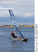 Купить «Wind surfer on West Kirby Marine Lake, August 2013. West Kirby, Wirral, Merseyside, United Kingdom.», фото № 25204581, снято 27 мая 2018 г. (c) Nature Picture Library / Фотобанк Лори
