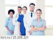 Купить «group of doctors and nurses at hospital», фото № 25208321, снято 14 марта 2015 г. (c) Syda Productions / Фотобанк Лори