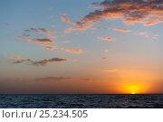 Купить «Sunset at Puerto Piramides, UNESCO Natural World Heritage Site, Golfo Nuevo, Peninsula Valdes, Chubut, Patagonia, Argentina, Atlantic Ocean, October 2007October», фото № 25234505, снято 22 апреля 2019 г. (c) Nature Picture Library / Фотобанк Лори