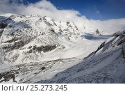 Pasterze Glacier, Hohe Tauern National Park, Austria, Europe, May 2009. Стоковое фото, фотограф Konstantin Mikhailov / Nature Picture Library / Фотобанк Лори