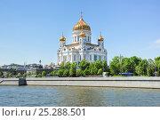 Купить «Кафедральный соборный храм Христа Спасителя в Москве», фото № 25288501, снято 16 мая 2014 г. (c) Алёшина Оксана / Фотобанк Лори