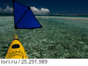 Купить «Bow of kayak with small sail, Solomon Islands, Melanesia, August 2008.», фото № 25291989, снято 19 июля 2018 г. (c) Nature Picture Library / Фотобанк Лори