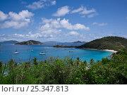 Купить «Boats in Deadman's Bay, Peter Island, British Virgin Islands, April 2008», фото № 25347813, снято 25 марта 2019 г. (c) Nature Picture Library / Фотобанк Лори