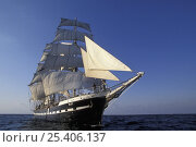 "Купить «Three masted barque ""Belem"" under sail, Cutty Sark Tall Ships race, 1999», фото № 25406137, снято 17 октября 2019 г. (c) Nature Picture Library / Фотобанк Лори"