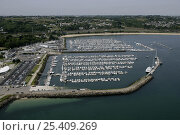 Купить «Port du Moulin Blanc from the air, Brest, Bretagne, France. June 2005», фото № 25409269, снято 23 июля 2018 г. (c) Nature Picture Library / Фотобанк Лори