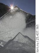 Купить «Pressure ridges of ice on Lake Louise, Fitzpatrick Wilderness, Shoshone National Forest, Wyoming, USA», фото № 25437161, снято 19 августа 2018 г. (c) Nature Picture Library / Фотобанк Лори