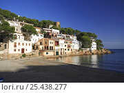 Купить «Coastal hillside village, Sa Riera, Gerona, Spain», фото № 25438277, снято 24 июня 2018 г. (c) Nature Picture Library / Фотобанк Лори