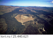 Купить «Aerial view of volcano and old lava flows, Great Rift Valley, Kenya», фото № 25440621, снято 5 апреля 2020 г. (c) Nature Picture Library / Фотобанк Лори