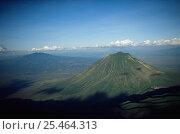 Купить «Aerial view of Ol Doinyo Lengai (The Mountain of God) Volcanoe, Rift Valley, Tanzania. NB still active», фото № 25464313, снято 5 апреля 2020 г. (c) Nature Picture Library / Фотобанк Лори