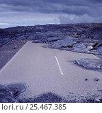 Купить «Solidified volcanic lava on a road. Hawaii.», фото № 25467385, снято 5 апреля 2020 г. (c) Nature Picture Library / Фотобанк Лори