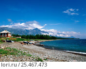Купить «Ranger and weather stations on the coast of Lake Baikal on Pokoiny (Calm) Cape, Russia.», фото № 25467473, снято 26 июня 2019 г. (c) Nature Picture Library / Фотобанк Лори