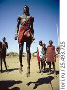 Купить «Maasai 'Emowuo-o-lkiteng ceremony, Kedong Valley, Rift valley, Kenya. Il-murran dancers. 1985», фото № 25493725, снято 3 июня 2020 г. (c) Nature Picture Library / Фотобанк Лори