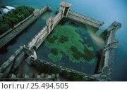 Купить «Fortified harbour of Rocca Scaligera, Sirmione, Lake Garda, Italy», фото № 25494505, снято 28 мая 2018 г. (c) Nature Picture Library / Фотобанк Лори