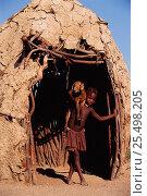 Купить «Himba girl holding goat outside hut Kaokoland, Namibia 2002 1999.», фото № 25498205, снято 27 мая 2019 г. (c) Nature Picture Library / Фотобанк Лори