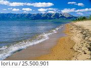 Купить «East shore landscape of Baikal Lake, Svyatoy Nos Peninsular, Russia», фото № 25500901, снято 24 апреля 2019 г. (c) Nature Picture Library / Фотобанк Лори
