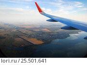 Вид из окна самолета. Стоковое фото, фотограф Багова Маргарита / Фотобанк Лори