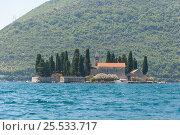 Saint George island, Boka Kotorska, Montenegro (2016 год). Стоковое фото, фотограф Евгений Пидеркин / Фотобанк Лори