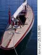 "Купить «Fife 8-metre ""Fulmar"" moored in Monaco, September, 1997.», фото № 25535901, снято 16 июля 2018 г. (c) Nature Picture Library / Фотобанк Лори"