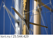 Купить «Three classic yacht masts with spreaders at Panerai Classics, Sardinia, September 2007.», фото № 25544429, снято 16 августа 2018 г. (c) Nature Picture Library / Фотобанк Лори