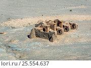 Купить «Ruins of ritual buildings next to Zoroastrian Towers of Silence in Yazd city, Iran.», фото № 25554637, снято 22 октября 2016 г. (c) easy Fotostock / Фотобанк Лори