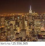 Купить «View of New York Manhattan during sunset hours», фото № 25556365, снято 20 декабря 2013 г. (c) Elnur / Фотобанк Лори