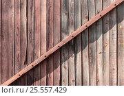 Купить «Фон стена из старых деревянных досок», фото № 25557429, снято 14 августа 2016 г. (c) Евгений Рашевский / Фотобанк Лори