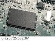 central processor unit on mainboard closeup. Стоковое фото, фотограф Александр Рыбин / Фотобанк Лори