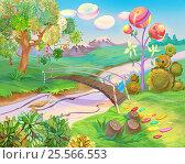 Купить «Fairy Tale Dreamland», иллюстрация № 25566553 (c) Sergii Zarev / Фотобанк Лори