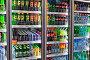 Торговля. Холодильники c широким ассортиментом безалкогольных прохладительных напитков в супермаркете., фото № 25569597, снято 12 февраля 2017 г. (c) Александр Тарасенков / Фотобанк Лори