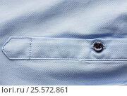 Купить «close up of blue shirt sleeve», фото № 25572861, снято 15 сентября 2016 г. (c) Syda Productions / Фотобанк Лори